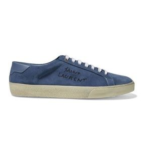NWT Saint Laurent Suede Blue Sneaker